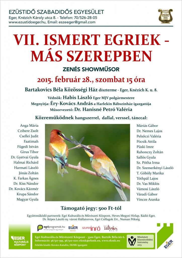 Ismert egriek 2015 plakát